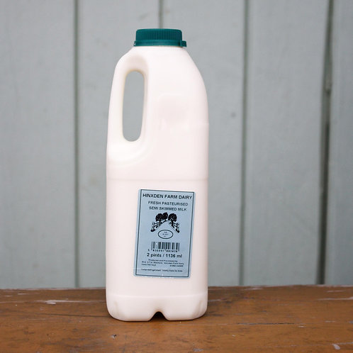 Hinxden Farm Semi Skimmed Milk 1 litre