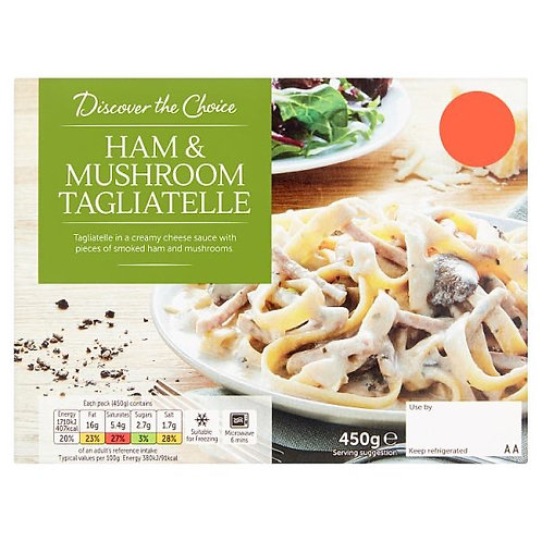 Discover The Choice Ham & Mushroom Tagliatelle