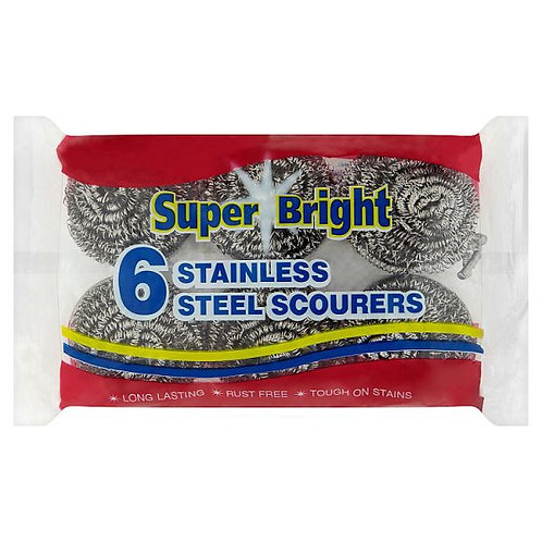 Super Bright Stainless Steel Scourers