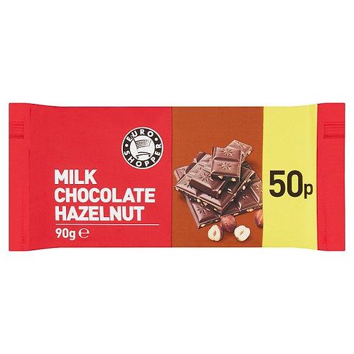 Euro Shopper Milk Chocolate And  Hazelnut Bar