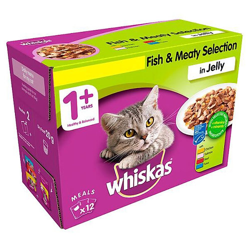 Whiskas 1+ Cat Pouch  Fish and Meat