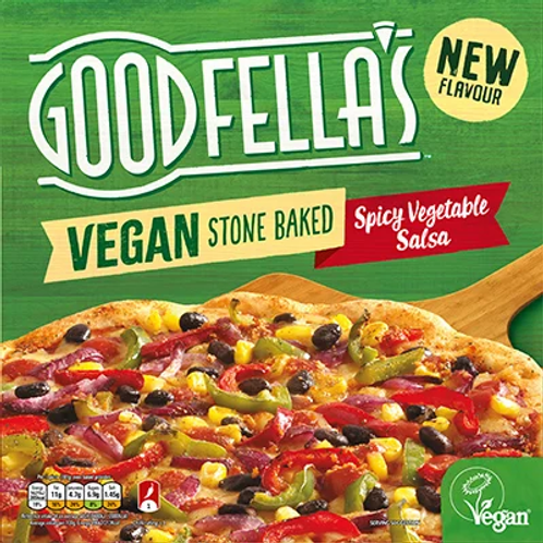 Goodfella's Vegan Stone Baked Pizza Spicy Vegetable Salsa