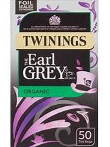 Twinings Earl Grey Organic Tea Bags (50)