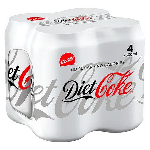 Diet Coke 4x330 mil