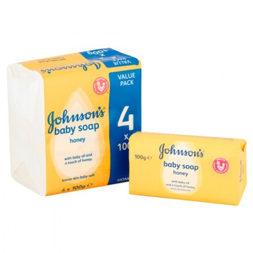 Johnsons Baby Soap 4 Pack