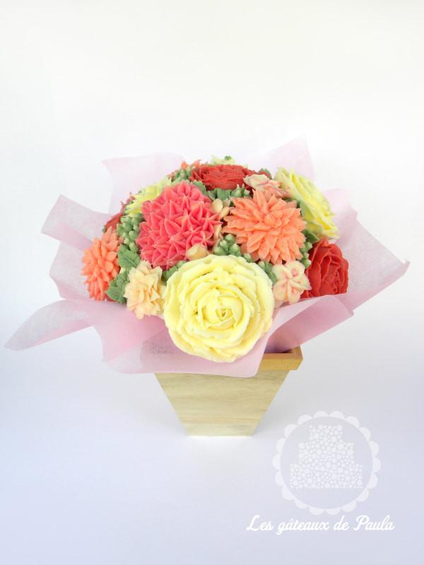 Cup cakes fleur