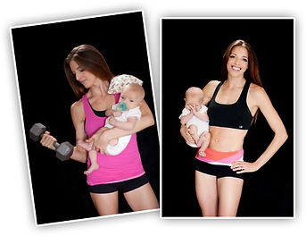 Mum and baby exercise class