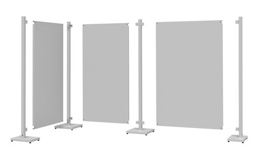 Unassembled Temporary Partition Walls