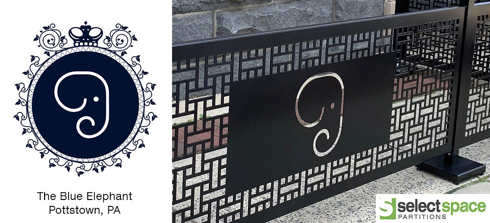 Laser-cutting before/after example with only one part of the logo used
