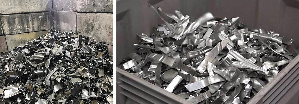 Shredded aluminum