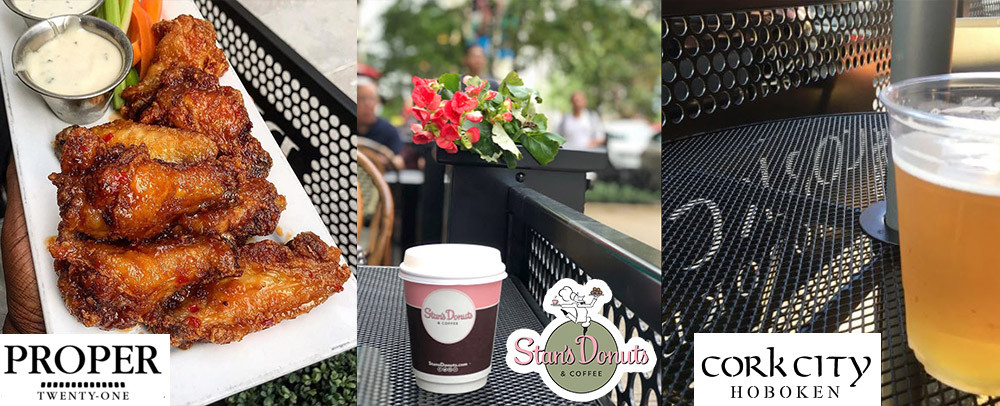 Food and drinks in outdoor dining patios
