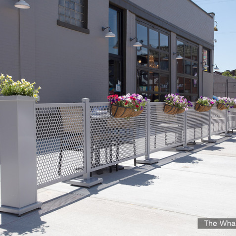 """I have been in the restaurant industry for 23 years and highly recommend this product to anyone looking for a simple and durable solution to sidewalk cafe barriers.""- The Vig & The Whale"