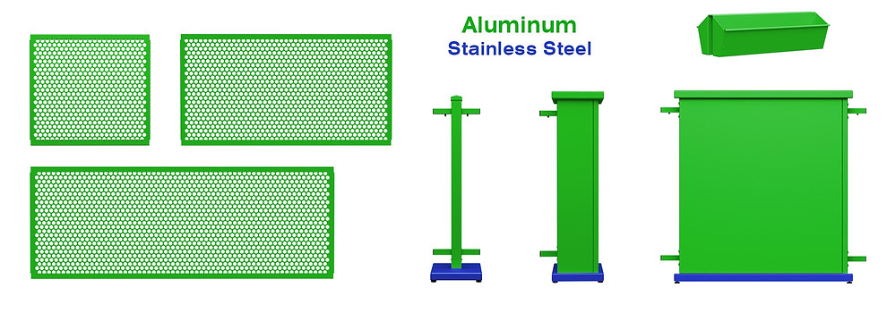 Example showing how SelectSpace is made mostly of aluminum
