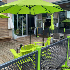 Thank you SelectSpace Partitions for making our patio space lovely. You were on budget and on time and the custom partition is beautiful.  - Scratch Distillery  Edmonds, WA