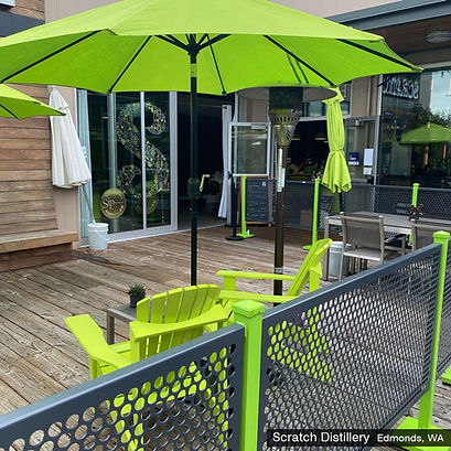 outdoor patio seating with custom color matching