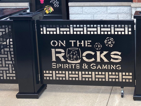 Laser-cut Logos with On The Rocks