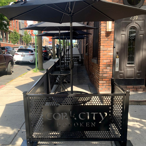 Sidewalk Cafe with SelectSpace logo lasercut panels