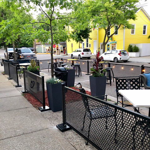 """The fencing turned out awesome...   It looks great and was crazy easy to put together""  - Wally's Bar & Grill"
