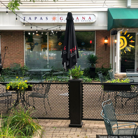 Custom Hanging Planters and Light Poles at Tapas Gitana, IL