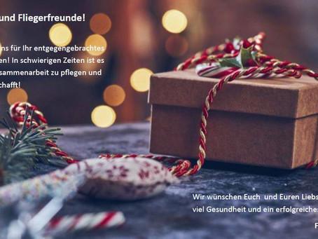 Weihnachtswünsche & Info Öffnungszeiten