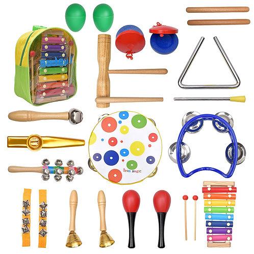 Rhythm & Music Instrument Set 19PCS -Montessori Educational Toys