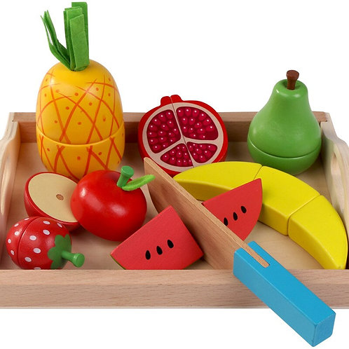 Cutting Fruit Vegetable Toy Sets Pretend Play- Montessori Educational Toys