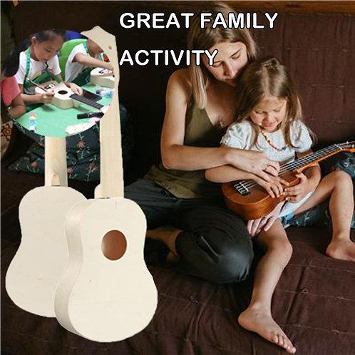 DIY Handmade Ukulele with Painting Set -Musical Learning Toy