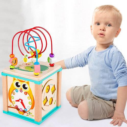 Bead Maze with Shape and Clock Learning -Montessori Educational Toys