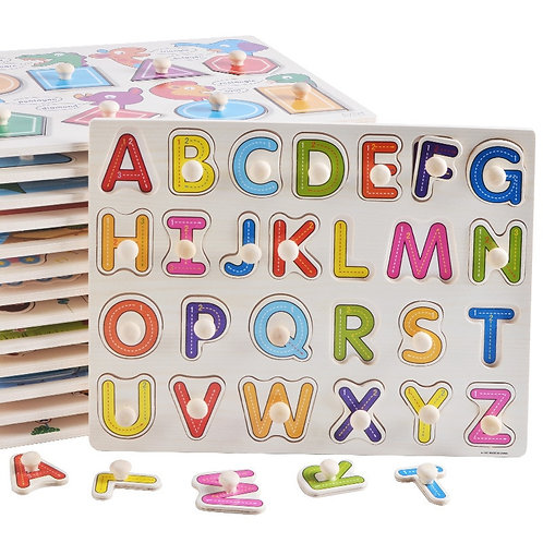 Wooden Puzzle Hand Grab Board Sets - Montessori Educational Toys