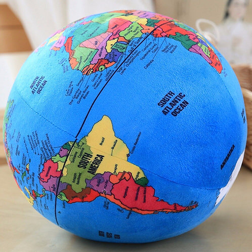 Globe Plush Plush Ball - Montessori Educational Toys