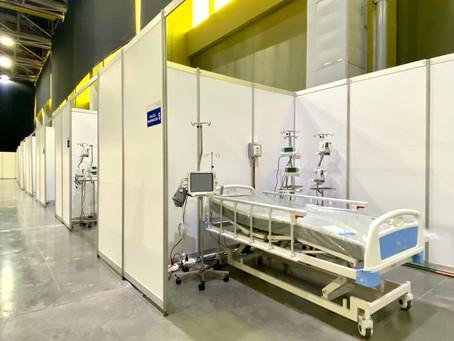 150 pacientes covid-19 podrán acceder a una cama en el hospital de campaña en el 'Puerta de Oro'