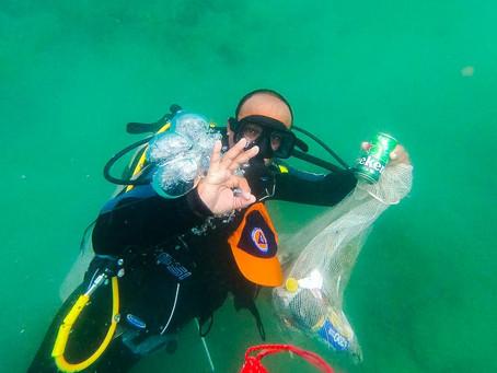 En imágenes| La Bahía de Taganga fue escenario de una limpieza terrestre y submarina