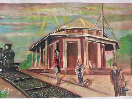 Puerto Colombia a través de la 'acuarela' en una exposición de arte