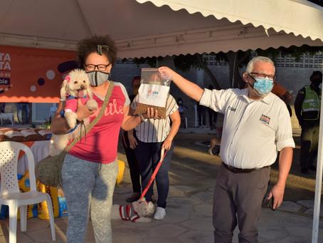 En imágenes|  200 perros y gatos recibieron atención veterinaria en Santa Marta