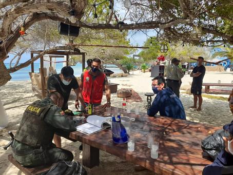 Fin de semana de fiesta Covid con DJs fue descubierta en operativos en Islas del Rosario, CTG