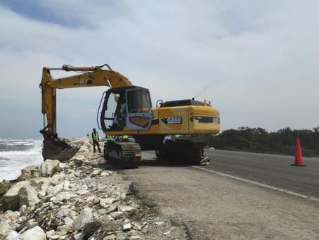 Conoce las tres fases que componen la protección de la vía B/quilla–Ciénaga ante la erosión costera