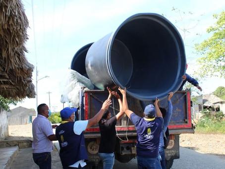 Comunidades en Toluviejo reciben 12 tanques de agua para hacerle frente a la sequía