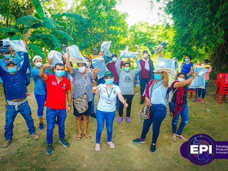 'Campesinos bioseguros' con la entrega de 300 kits en Majagual, Sucre