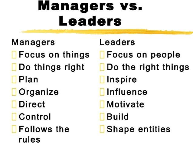 Image result for leader versus manager