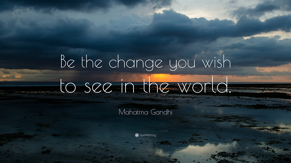 Image result for be the change you wish to see