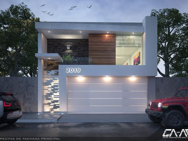 Diseño de fachada contemporánea