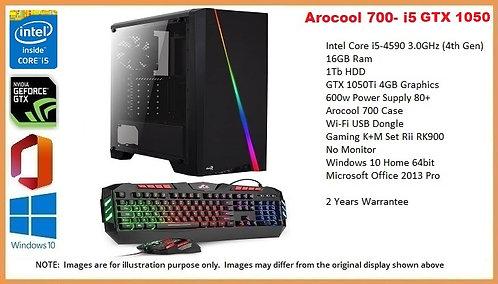 Arocool 700- i5 4th Gen GTX1050