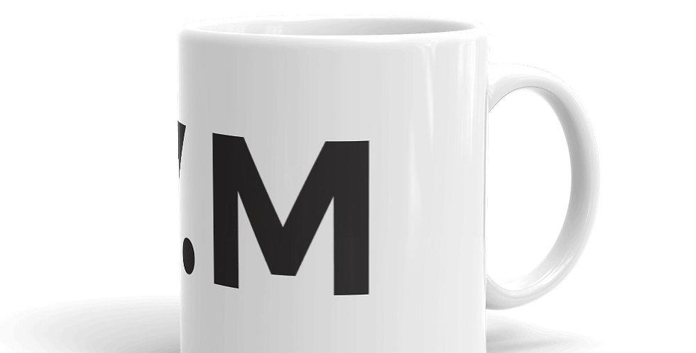 White mug BY.M big