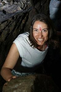 Lisa in the sacred Shiv Khori Cave, India 2014