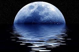 Rising Blue Moon