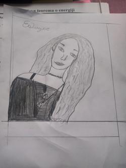 Alex drawing Joyce