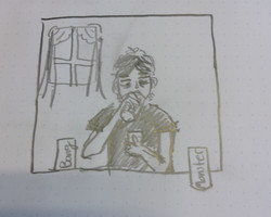 Anya drawing Kierans personality