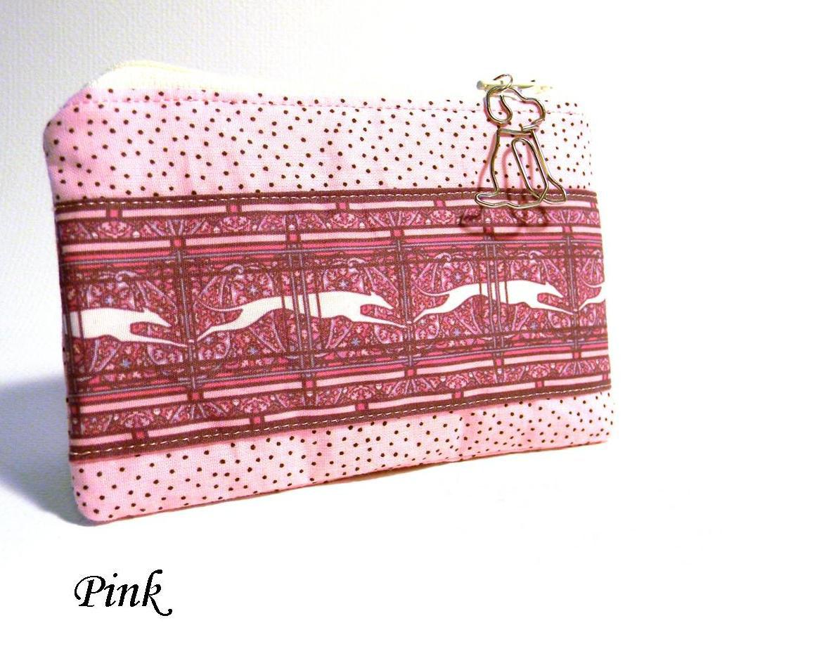 Pink Greyhound Coin Purse