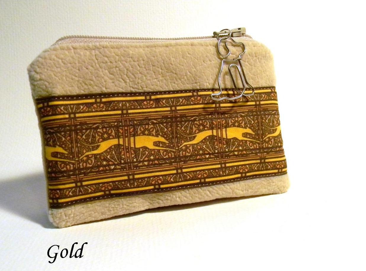 Gold Greyhound Coin Purse