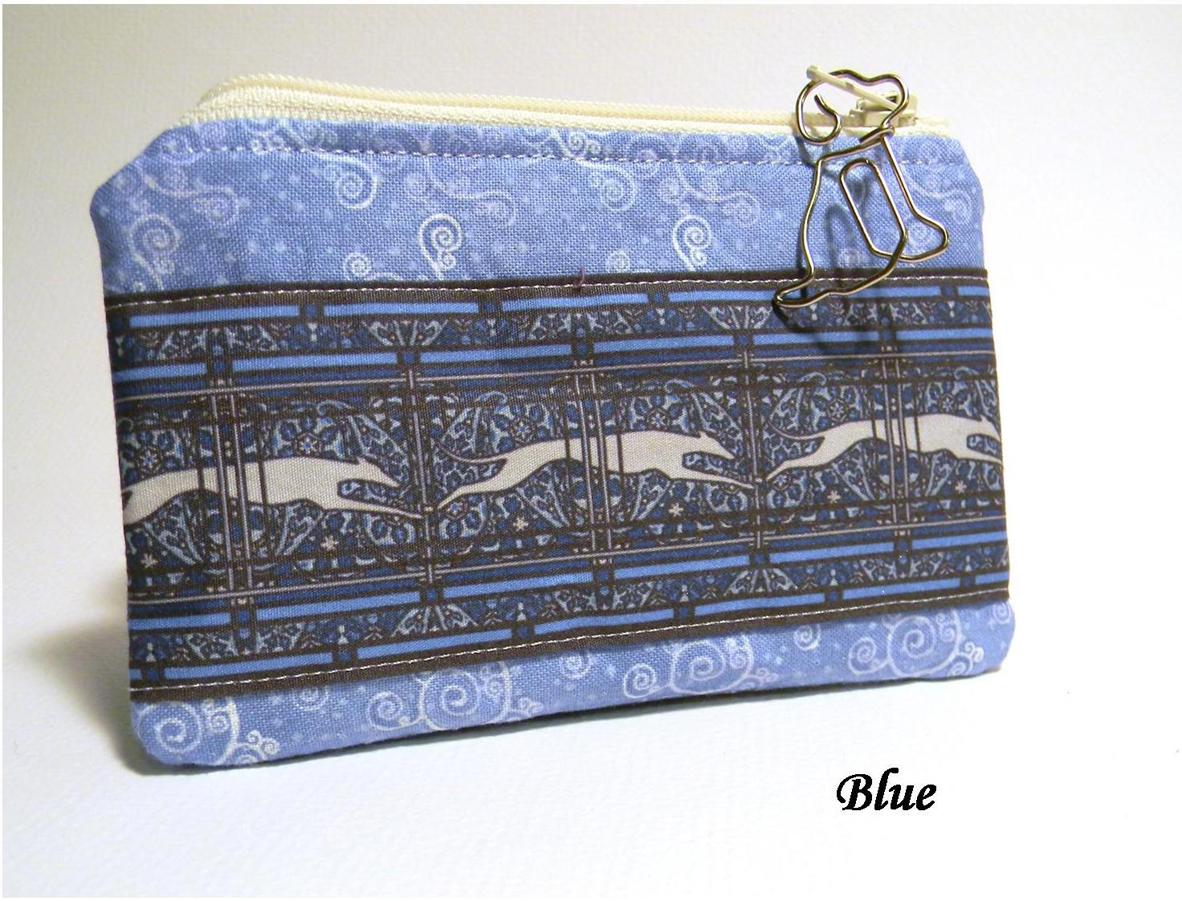 Blue Greyhound Coin Purse